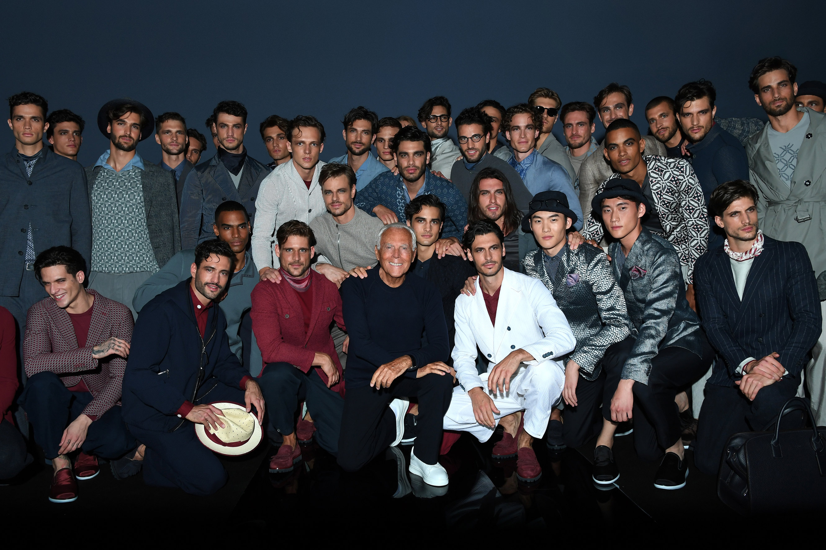 Giorgio Armani Menswear SS17_GA with models